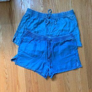 Bundle of 2 Gap Chambray Shorts